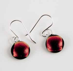 DCE-55 red dichroic earrings