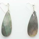 Mother of Pearl teardrop earrings from Gracie Mae